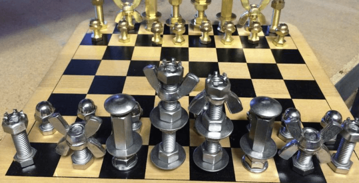 Employee Builds Chess Components Using Fasteners Sold At Their Store