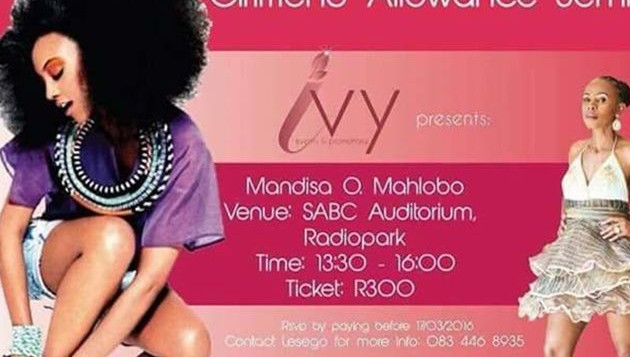 R300-00 pp seminar aimed to equip women with skills to get a GF allowance