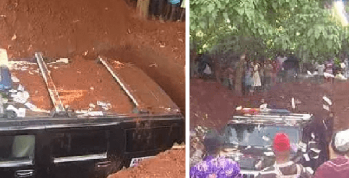 Man buried in SUV Hummer in Nigeria